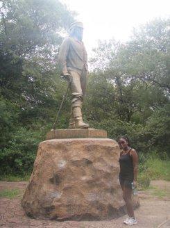 The David Livingstone Statue, Victoria Falls, Zimbabwe
