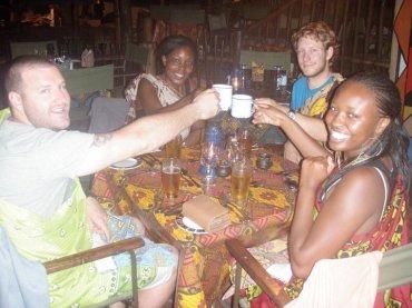 Dinner at 'The Boma', Victoria Falls, Zimbabwe
