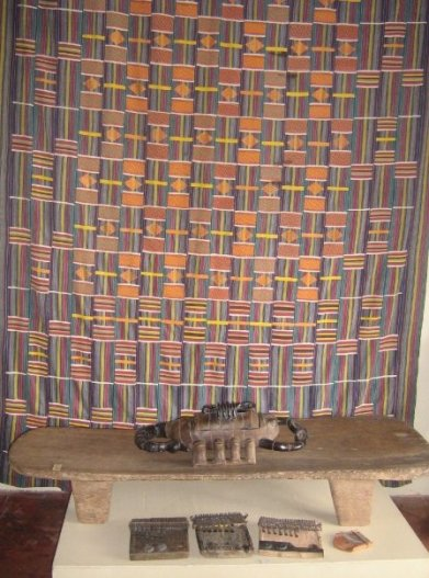 West meets Southern Africa in this kente cloth and mbira display