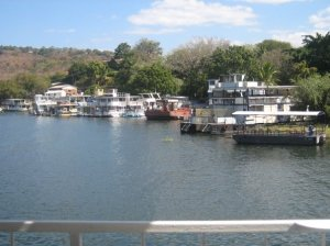 House boats docked in Kariba